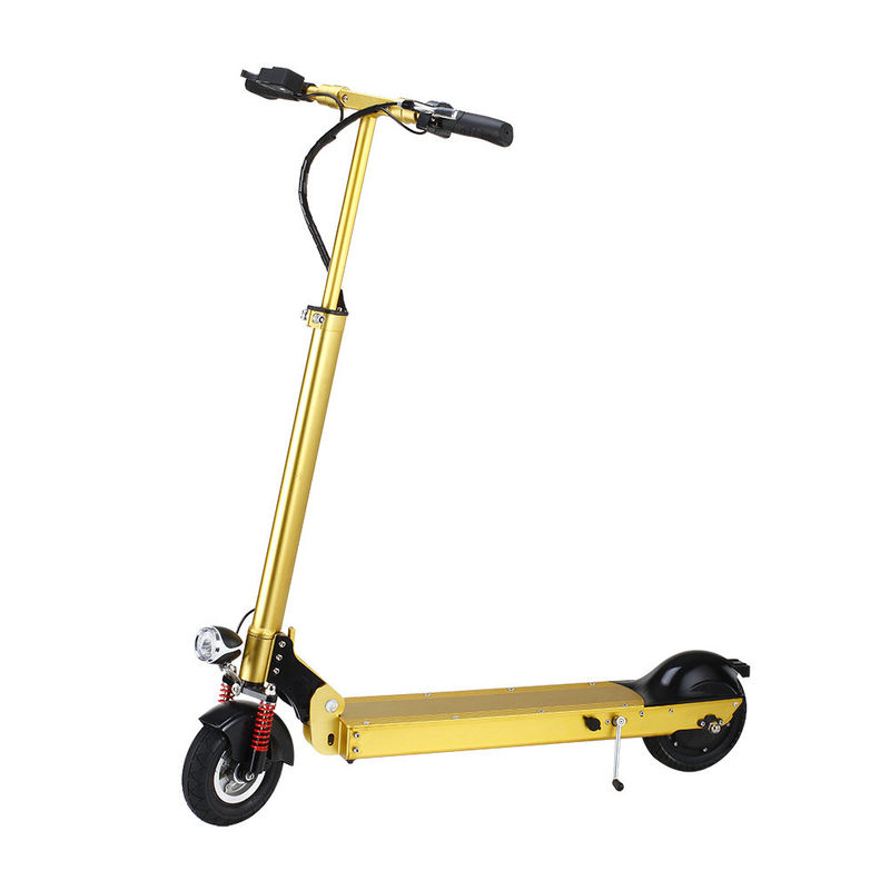 Yellow Commuter Folding Electric Scooter , 14.8kg Foldable Motorized Scooter